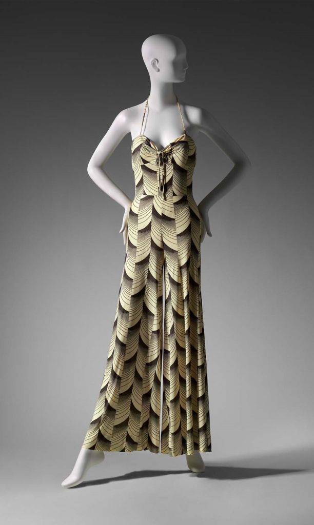 Early 1970s, England - Jumpsuit by Barbara Hulanicki - Printed diacetate knit