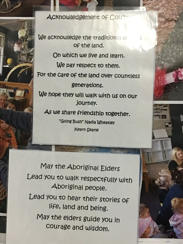 Lovely Acknowledgement to country at Explore & Develop Narraweena.