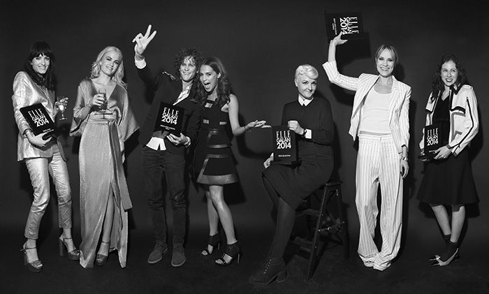 Winners at ELLE Style awards 2014