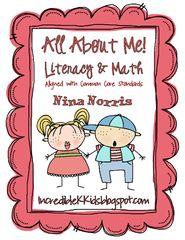 All About Me Math and Literacy - Great product to begin the year with your new students.  Loads of great literacy and math stations and unique activities..  A GIVEAWAY promotion for All About Me Math and Literacy - aligned with Common Core from IncredibleKKids on TeachersNotebook.com (ends on 7-27-2015)