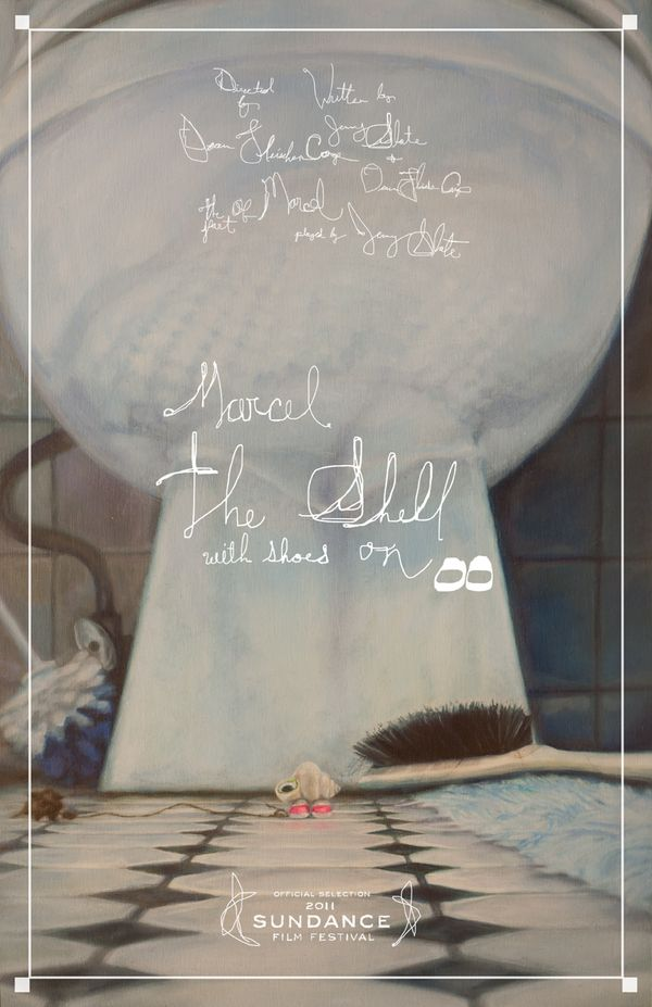 Marcel the shell with shoes on poster