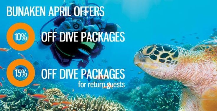Some discount for enjoying really nice dives in Bali Get 10-15% off when you stay & dive with us in Lembeh in April 2016 part of our April offers at all our locations. http://ow.ly/10wbev