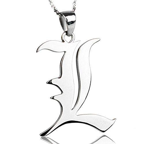 CoolChange Death Note Halskette mit L Anhänger aus echtem 925 Sterlingsilber - http://schmuckhaus.online/coolchange/coolchange-death-note-halskette-mit-l-anhaenger