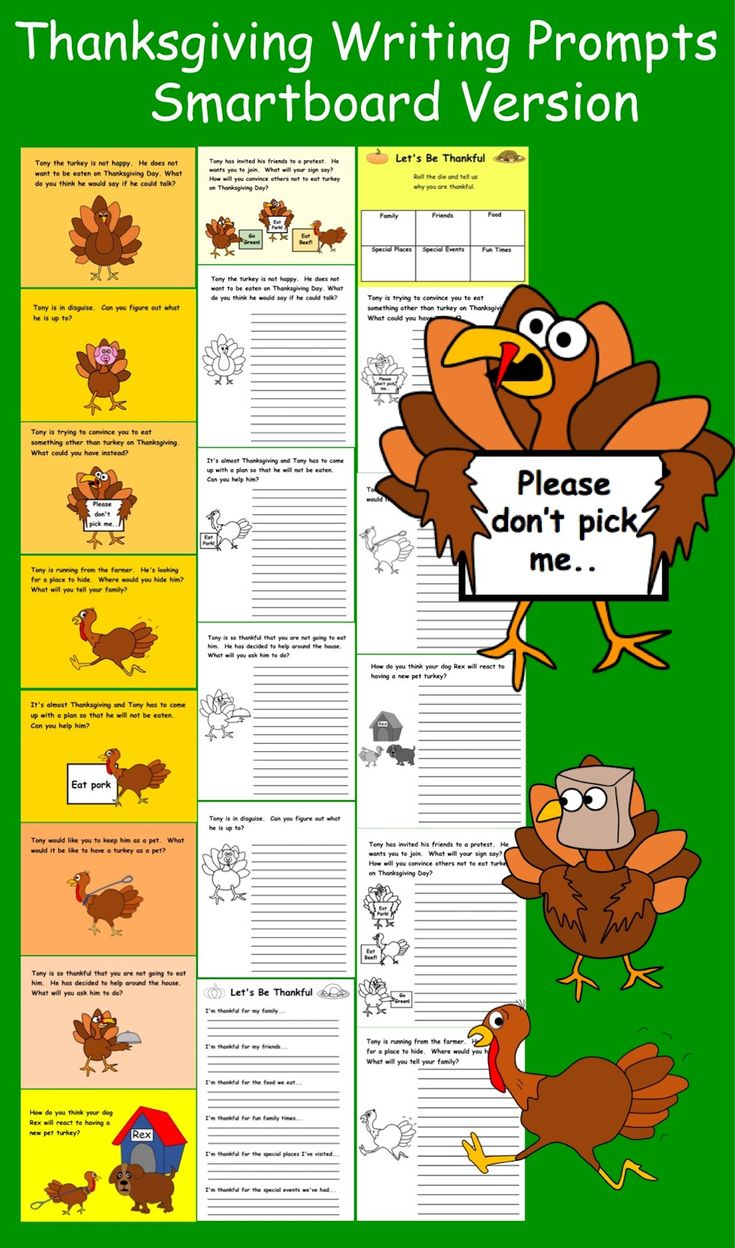Funny Thanksgiving Writing Prompts Thanksgiving writing