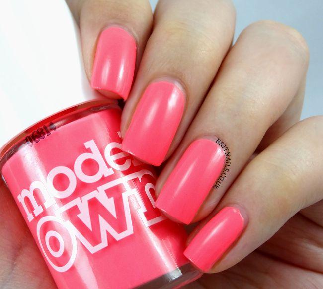 MODELS OWN - Shades is a coral pink. 2 COATS #nail #nails #nailpolish