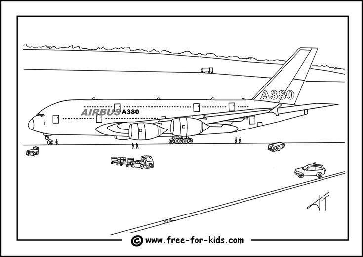 Gratis Kleurplaten Planes.Airbus A380 Colouring Page Thumbnail Image Airbus 380 Coloring
