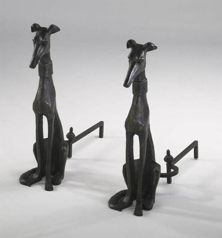 Greyhound Andirons