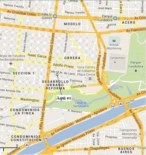 Departamento. Centro de monterrey. Colonia Obrera. Cerca de: La Arena Monterrey, Empresa Northam Engineering (Foster Wheeler), Pabellón ciudadano, Torre cívica, Parque Fundidora, Paseo Santa Lucía, Arena Santa Lucía, HGZ Nº 33 del IMSS, Clínica UMF
