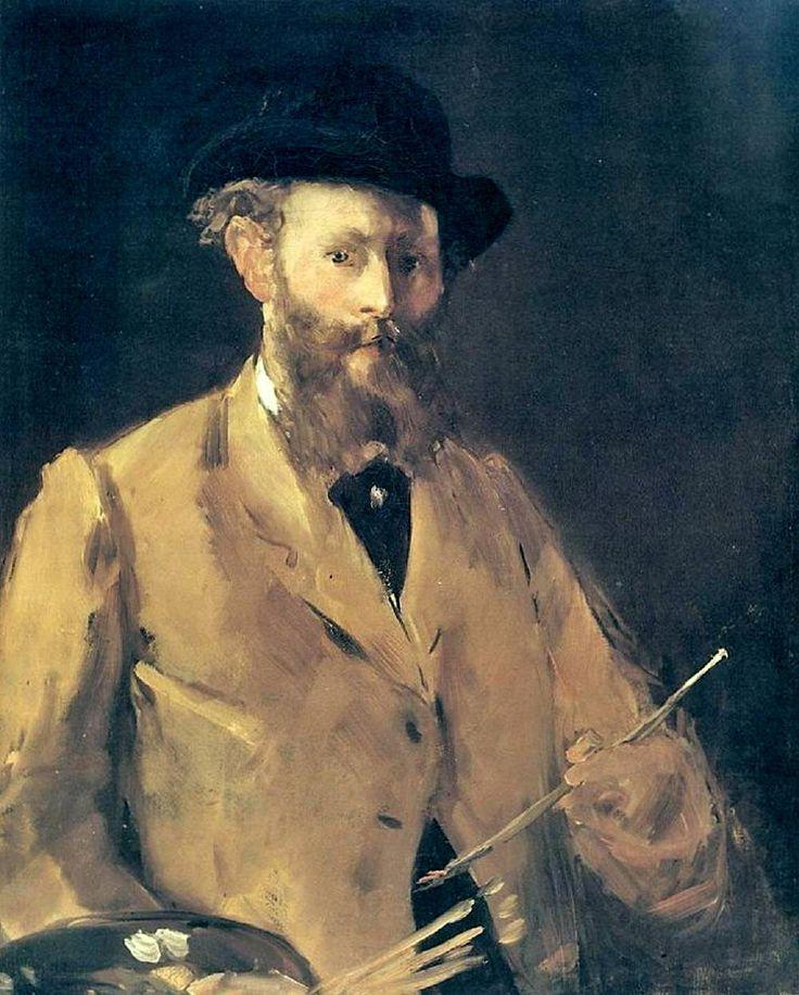 Эдуард Мане «Автопортрет с палитрой». Описание картины