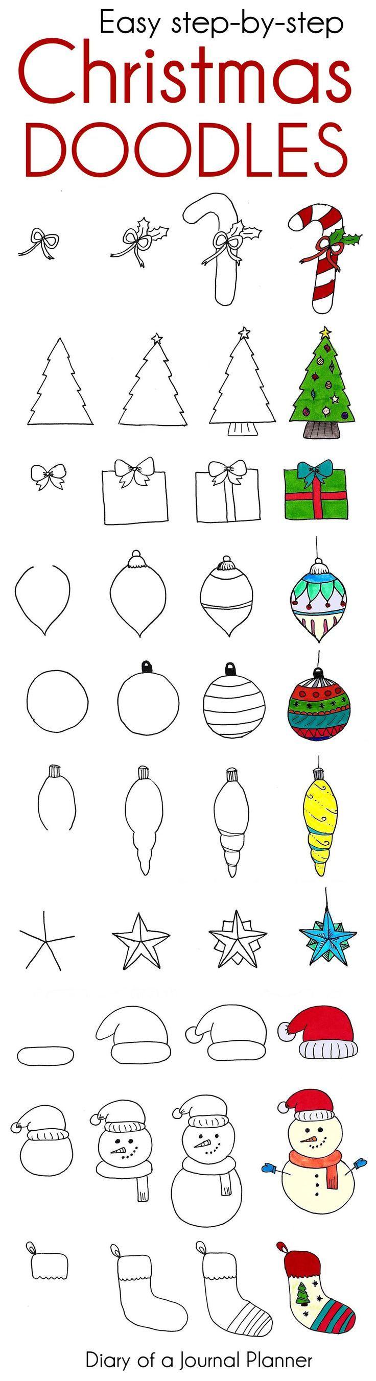 Weihnachtsgekritzel – nette Weihnachtskugel-Journal-Gekritzel zum zu kopieren