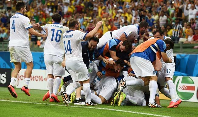 FIFA World Cup 2014 (Match 39) Greece vs Ivory Coast 2-1 goals. Late penalty drama as Greece oust Ivory Coast in the early hours of 25/06/2014