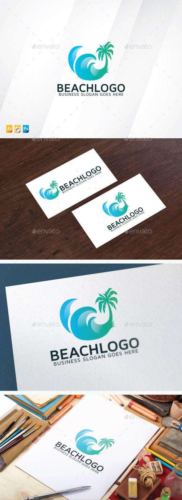 Beach - Logo Design Template Vector #logotype Download it here: http://graphicriver.net/item/beach-logo/12754488?s_rank=520?ref=nexion
