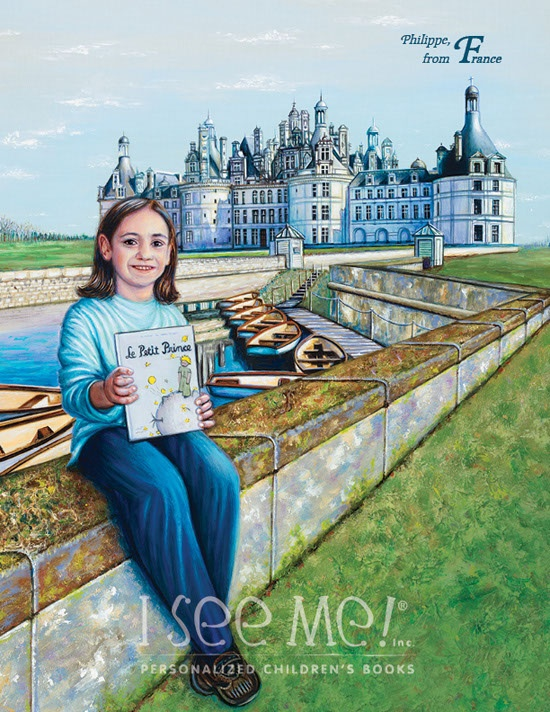 """France - As featured in """"My Very Own World Adventure"""" personalized children's book by I See Me!"""