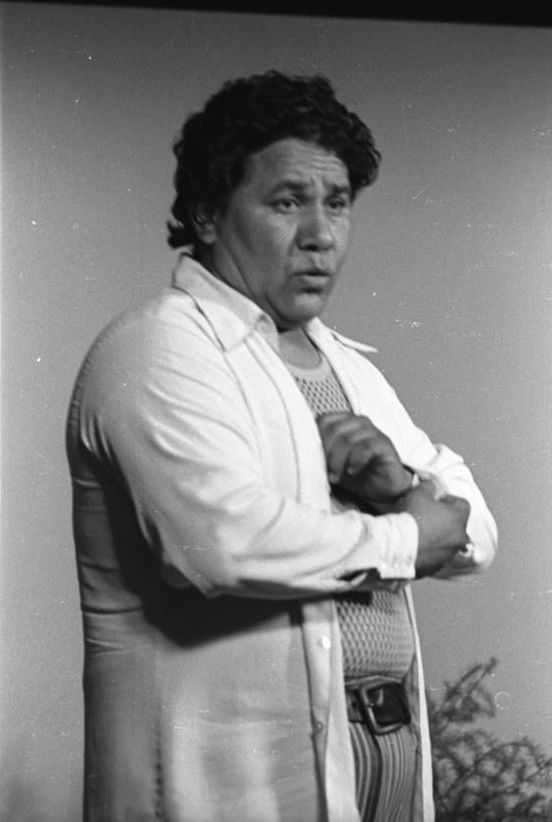 """Festival de Flor y Canto, 1973: Films and Photographs - photograph of Oscar """"Zeta"""" Acosta speaking at a lecturn at the Festival de Flor y Canto, University of Southern California, Los Angeles, 1973."""