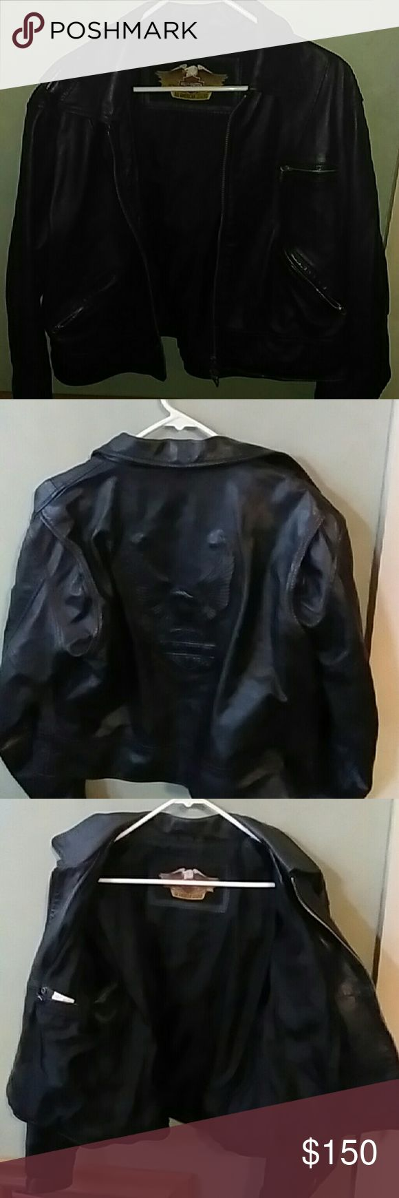 Genuine Harley Davidson Jacket Great condition Harley-Davidson Jackets & Coats Jean Jackets