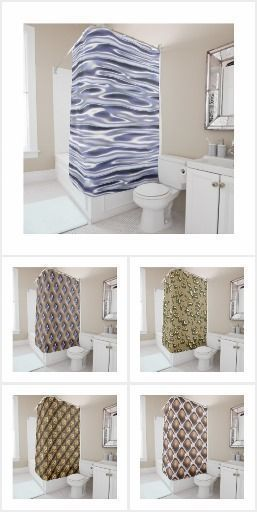 3d effect seamless pattern with #ShowerSurtain