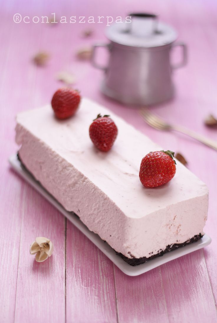 Tarta mousse de fresas y mascarpone tarts pinterest - Mousse de fresa ...