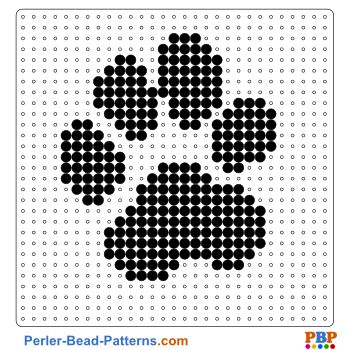 Paw perler bead pattern. Download a great collection of free PDF templates for your perler beads at perler-bead-patterns.com