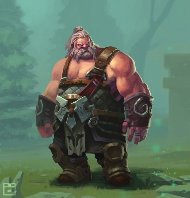 The Blacksmith Picture (2d, fantasy, blacksmith, dwarf)