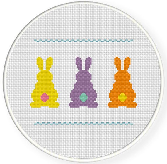 FREE for April 5th 2015 Only - Bunnies Behinds Cross Stitch Pattern