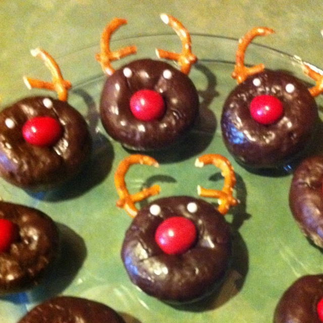 Rudolph donuts for my son's school Christmas party