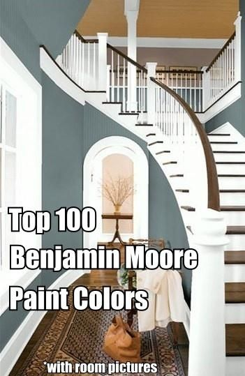 Top 100 Benjamin Moore Paint Colors (with room examples)