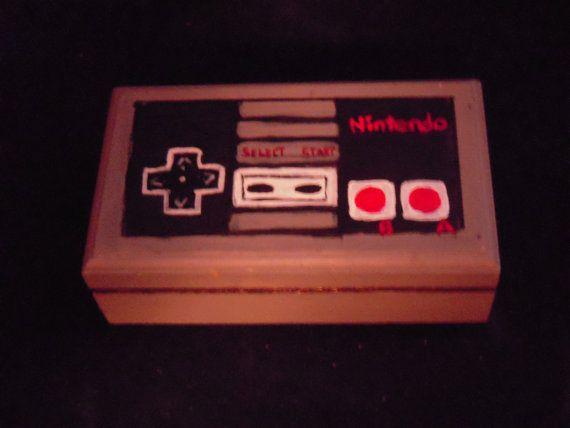 Vintage Nintendo Controller Ring Bearer Box by AntonisArtAsylum, $30.00