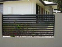 horizontal aluminum slats