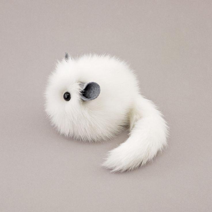 Stuffed White Chinchilla Stuffed Animal Cute Plush Toy Faux Fur Chinchilla…