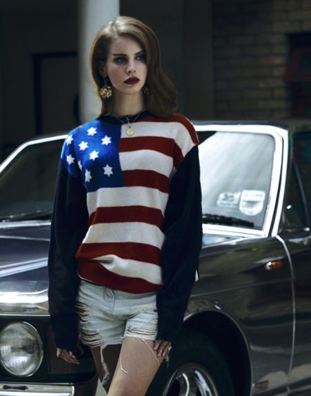 #lanadelrey: Lanadelrey, Sweaters, Lana Del Rey, Fashion, Flags, Style, American Flag, People, The Ray