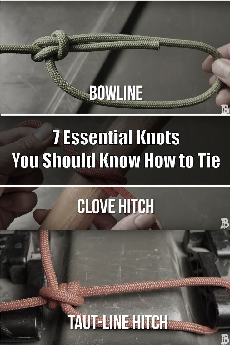Knowing how to tie a few good knots is very beneficial. Especially if you ever find yourself in a survival situation.