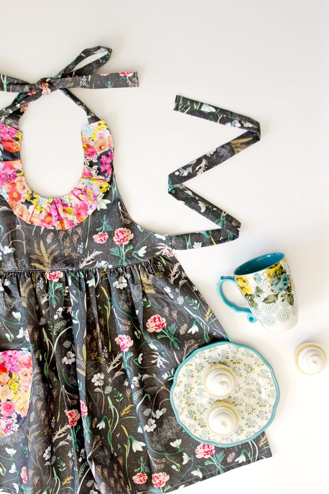 Ruffled Floral Apron from Sprout Patterns!