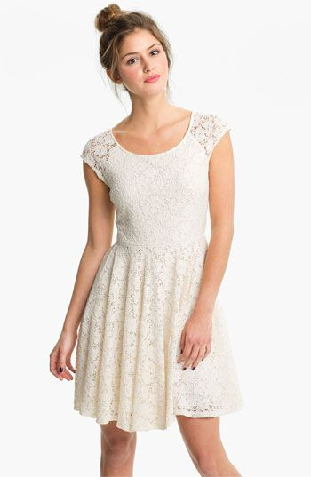 Soprano Lace Skater Dress (Juniors) available at #Nordstrom thinking for confirmation??