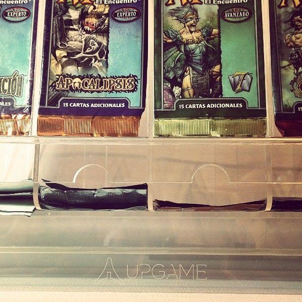 Upgame booster dispenser. Sets retro de mis comienzos en mtg.  #upgame #booster #box #mtg #entrepreneur #design #dispenser #acrylic #laser #lasercut #apocalypse #seventh #creative #designer #Argentina by upgamedesign