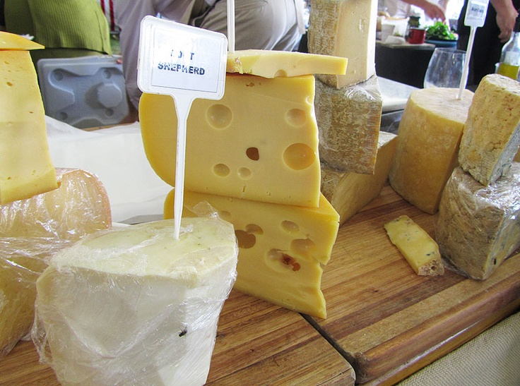 Visitors had a chance to savour some of the area's best local #cheeses. Yum.