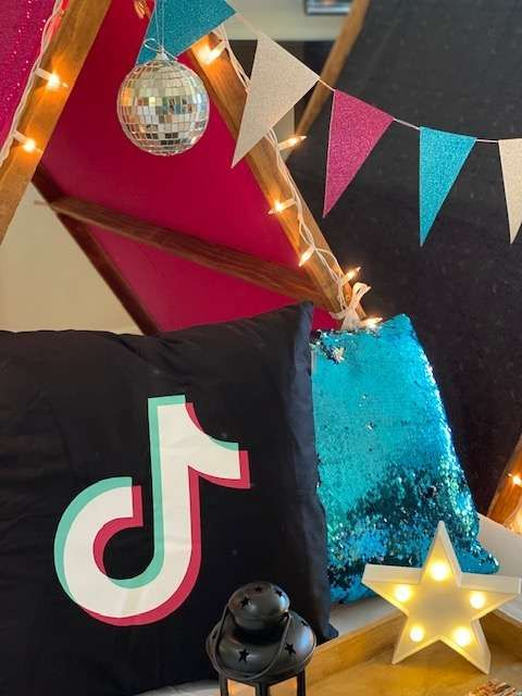 Tiktok Birthday Party Ideas Photo 1 Of 10 Slumber Party Decorations Sleepover Party Kids Birthday Party
