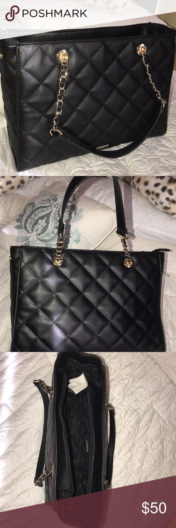 ALDO Tote Bag Black quilted tote medium bag Aldo Bags Shoulder Bags