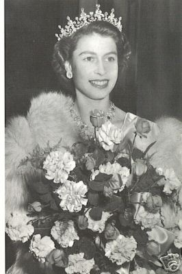 Queen Elizabeth II- the queen mum - young and pretty
