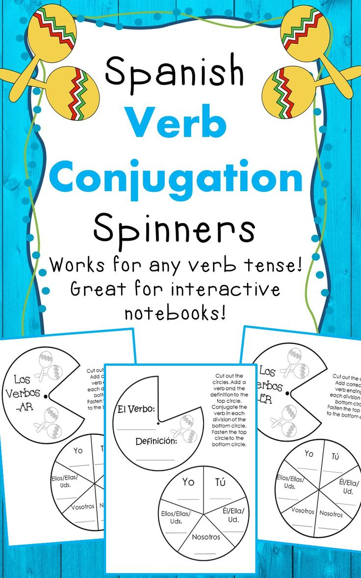 Use as a study tool for Spanish verb conjugations. Works with any verb and can be used for any tense.