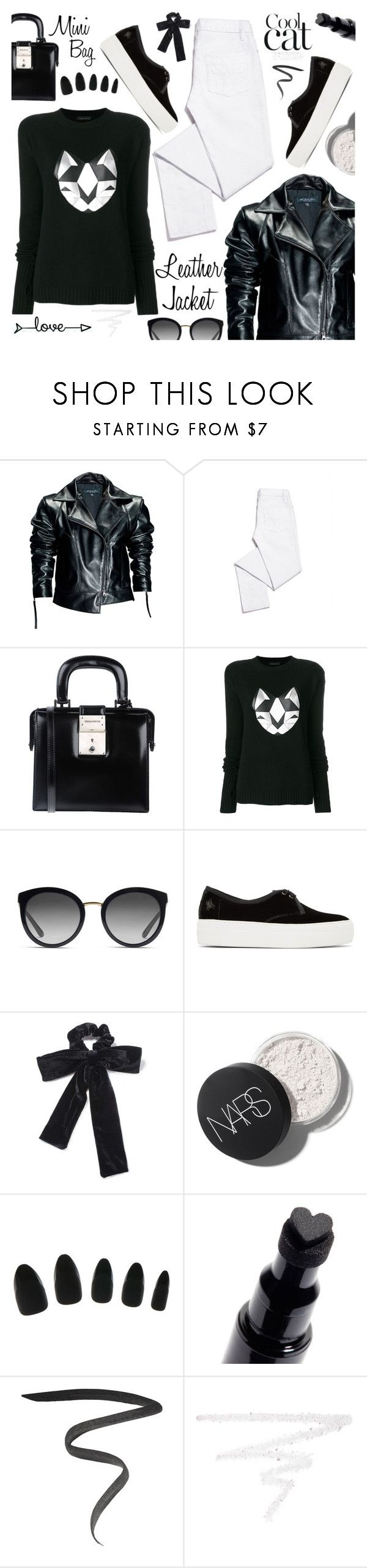 """""""Cool-Girl Style: Leather Jackets"""" by tinkabella222 ❤ liked on Polyvore featuring Leka, Tory Burch, Dsquared2, Frankie Morello, Dolce&Gabbana, Charlotte Olympia, Miss Selfridge, Marc Jacobs, Burberry and leatherjackets"""