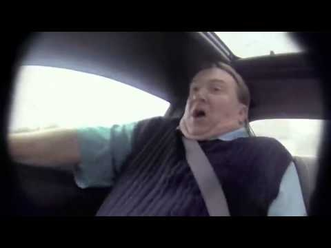 A disguised Nascar driver test drives a camaro at a car dealer ship. It's soooo hilarious!!!