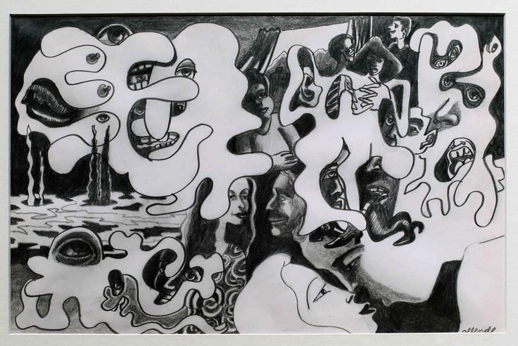 "Fernando Allende Bellido, ""Historia de Amor 13"", Lápiz grafito."