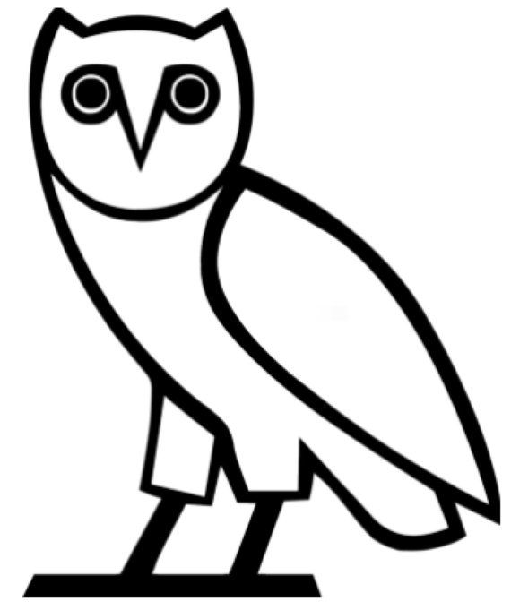Line Drawing Of Yourself : Owl drake ovoxo decal by downtheaislevinyl on etsy