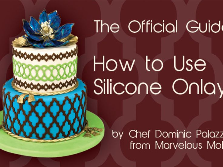 Silicone Onlays represent the latest innovation in cake decorating and...