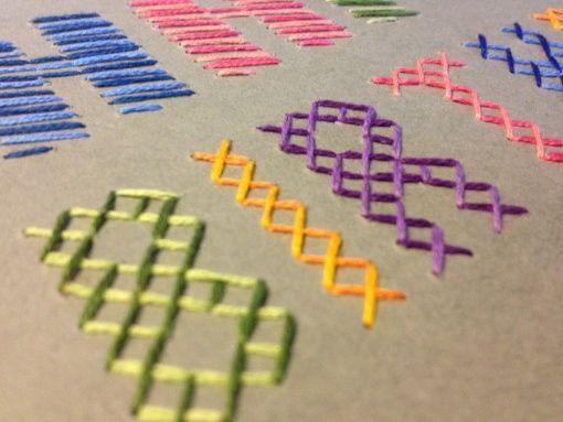 Gratis! Tutorial de tarjeta  de cumpleaños bordada sobre cartón #tutorial #free #DIY embroidery card #DIY card #birthday card