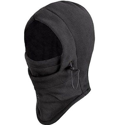 New Polar Fleece Balaclava Warm Full Face Cover Winter Camping Ski hiking snow Mask Beanie Cs Hat for Valentine's Day Gift (Black) - http://backpackingandcampingessentials.com/camping-equipment/new-polar-fleece-balaclava-warm-full-face-cover-winter-camping-ski-hiking-snow-mask-beanie-cs-hat-for-valentines-day-gift-black/