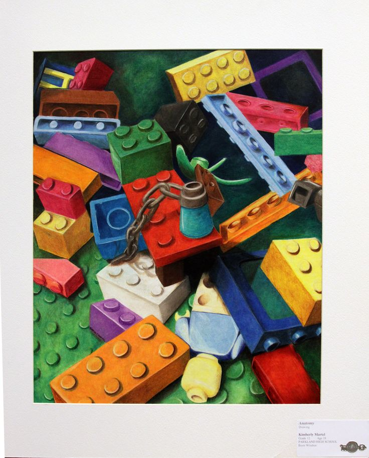 Practicing one & two-point perspective. . .Drawings of Legos Great idea....