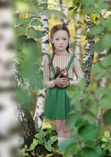 Ruud Van Empel - Dutch photographer  blends subject and background in a combination of collage, photography, and photo editing.