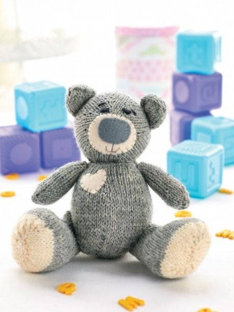 Oliver the Teddy free knitting pattern for teddy bear - have to register on the site to download