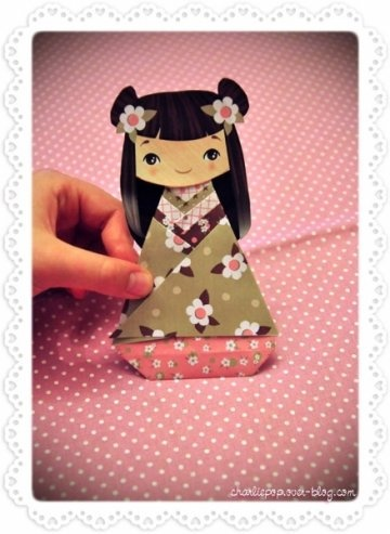 kokeshi origami: Kokeshi Origami, Japan Teas, Kokeshi Paper, Japan Dolls, Origami Dolls, Ideas Japonesa, Paper Crafts, Paper Dolls Origami, Kokeshi Diy